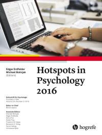 Hotspots in Psychology 2016